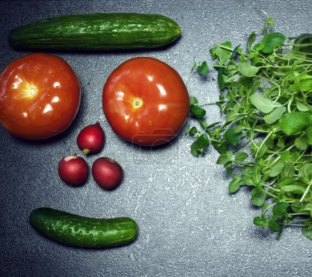 Photo for Fresh vegetables. Conceptual photo of healthy eating. - Royalty Free Image