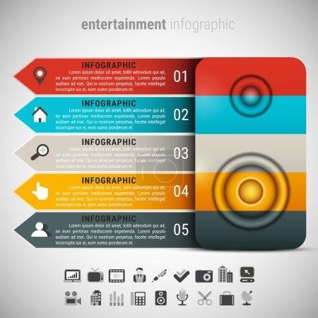 Creative Entertainment Infographic