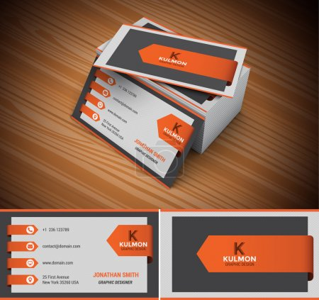 Illustration for Vector illustration of modern creative business card. - Royalty Free Image
