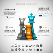 Vector illustration of business infographic made of chessman