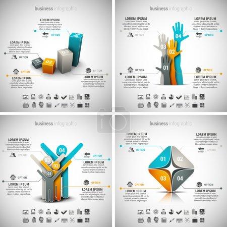 Illustration pour Ensemble vectoriel d'infographies commerciales. Vol.26 . - image libre de droit