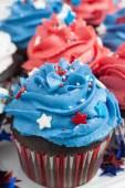 Patriotic Chocolate Cupcakes