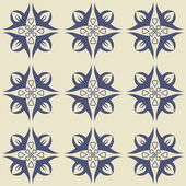 Gorgeous seamless  pattern from dark blue and white floral ornaments