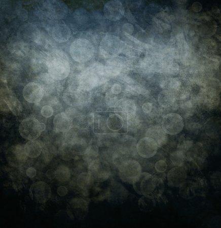 Photo pour Résumé gris fond cercles bokeh - image libre de droit