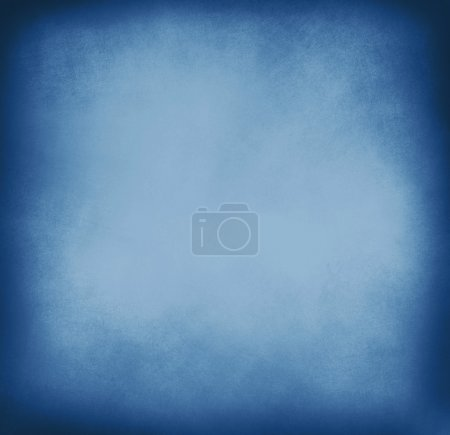 Photo for Blue grunge background. abstract painted blue old background with space for text - Royalty Free Image