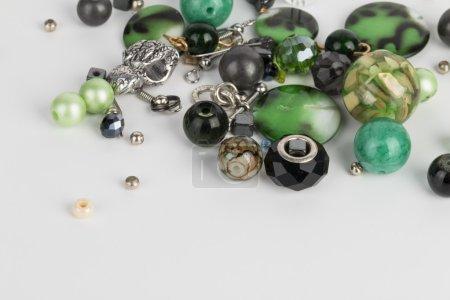 Homemade bead jewelry.