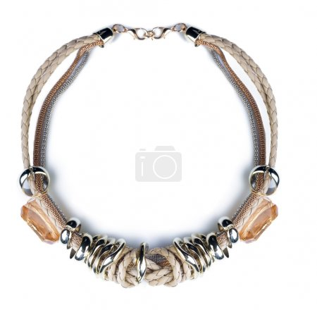 Plastic necklace.