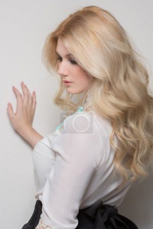 Photo for Photo of beautiful woman with blond hair - Royalty Free Image