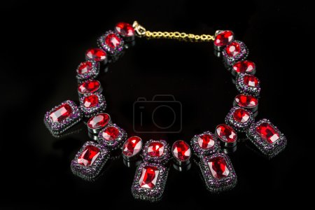 red plastic  necklace
