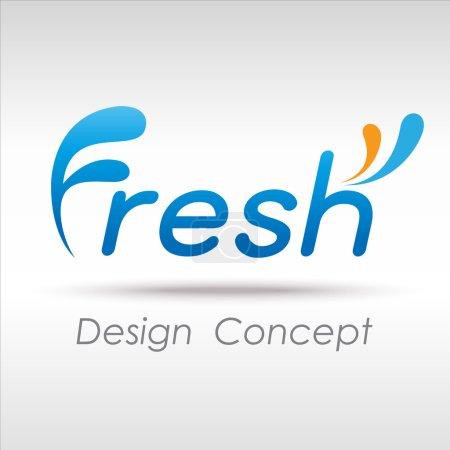 Illustration for Fresh icon - Royalty Free Image