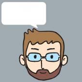 Man talk with mustache