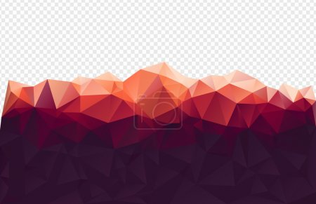 Illustration pour Polygone rouge montagne - image libre de droit