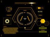 Futuristická dotyková obrazovka uživatelské rozhraní Hud