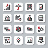Set of flat modern business web icons