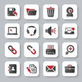 White flat computer icons