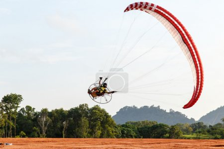 SEPTEMBER 16: unidentified competitor of the 4th Asian Beach Game Test Event for Paramotor on September 15, 2014 in Phuket,Thailand