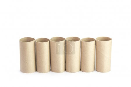 Paper tubes of toilet paper
