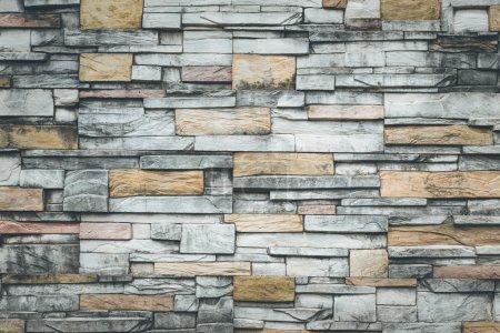 Foto de Viejo muro de piedra natural para el fondo - Imagen libre de derechos