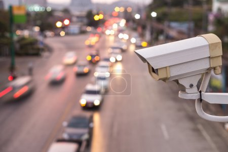 Security CCTV camera operating