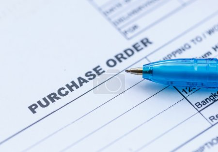 Purchase order with pen