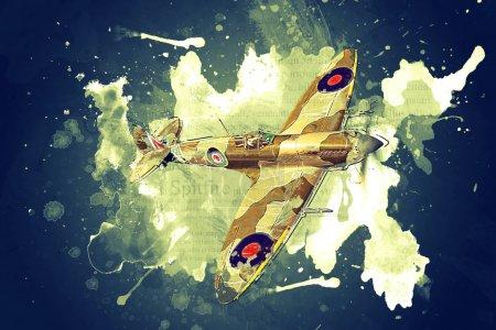 Render of a ww2 Supermarine Spitfire 3D model in f...