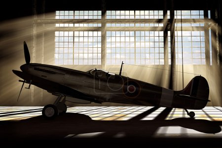 Supermarine Spitfire Mk.V - modelled in 3D