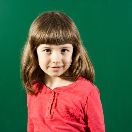 Little cute schoolgirl