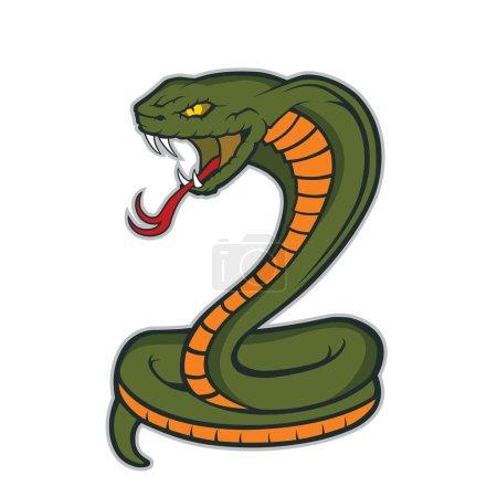 Illustration pour Clipart image d'un personnage de mascotte de serpent cobra - image libre de droit