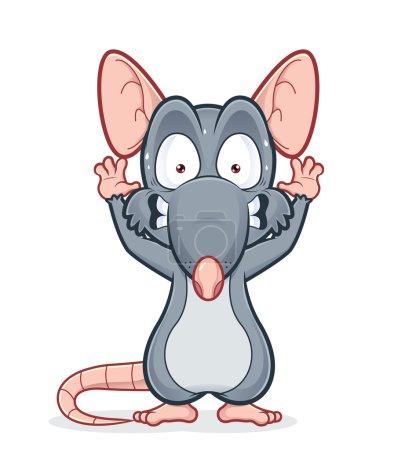Scared rat