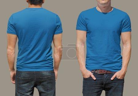 Photo pour Fond de t-shirt masculin pour votre conception - image libre de droit