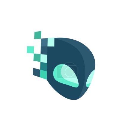 Photo pour Illustration numérique du logo Alien - image libre de droit
