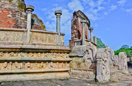 Polonnaruwa antique Vatadage, Sri Lanka