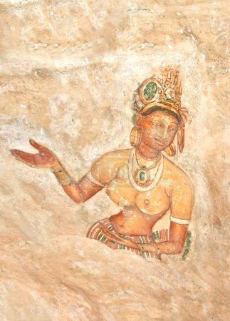 Sigiriya Rock Cave Wall Paintings