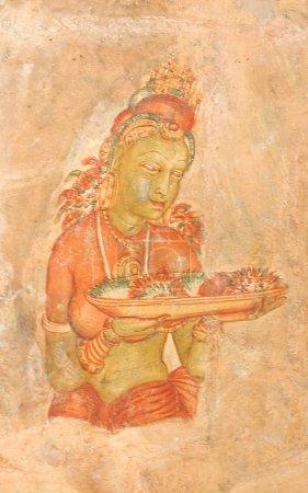5th Century Sigiriya Rock Cave Wall Paintings. Sig...