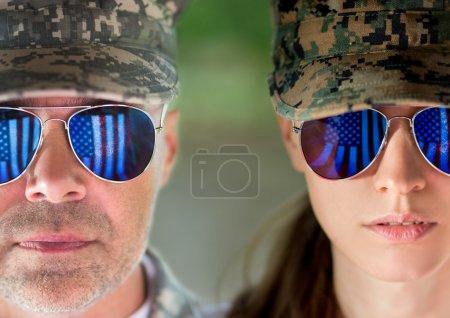 Photo pour Concept de patriotes américains. lumière du jour douce - image libre de droit