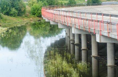 Photo pour Tribühne, levels of concrete under water - image libre de droit