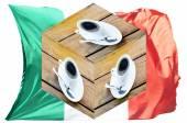 Kostky, Itálie vlajka hrnek na kávu