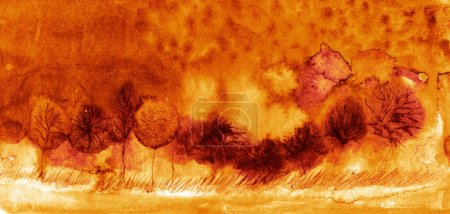 Photo for Original painting on paper. Watercolor abstract background. - Royalty Free Image