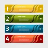 Modern wave infographics options banner Vector illustration can be used for workflow layout diagram number options web design
