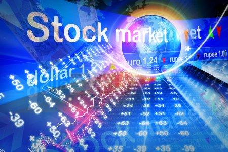 Photo pour Graphique boursier économique - image libre de droit
