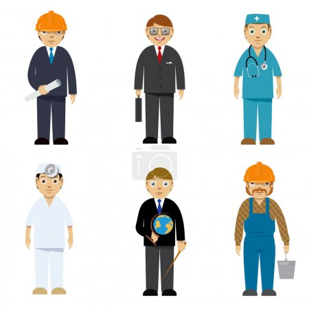 Photo for Cartoon characters of different professions. Vector illustration - Royalty Free Image