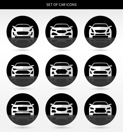 Vector set of car icons