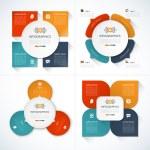 Set of modern minimal infographic design templates...