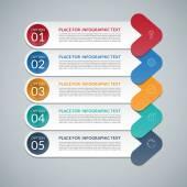 Modern arrow infographic design template