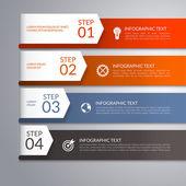 Modern arrow infographic template