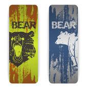 Sada bannerů medvěd