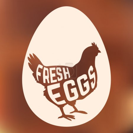 Egg with concept chicken silhouette inside on background