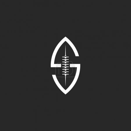 Football ball logo S letter