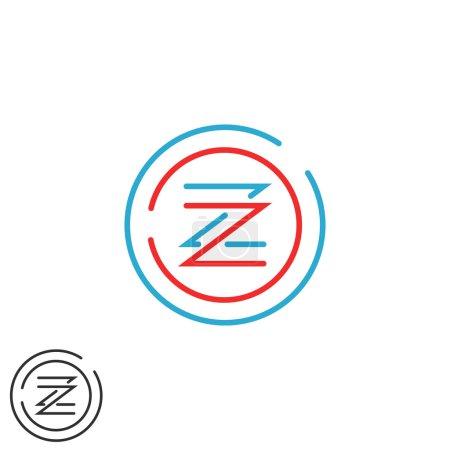 Hipster letter Z logo monogram