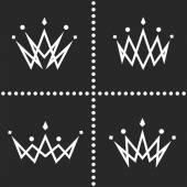 Set crowns logo monogram silhouette